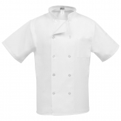 Fame C10PS 10 Button Short Sleeve Chef Coat - White