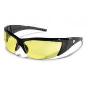 Crews ForceFlex 2 Safety Glasses - Black Frame - Amber Lens
