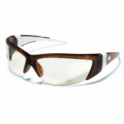 Crews ForceFlex 2 Safety Glasses - Translucent Brown Frame - Clear Lens