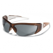 Crews ForceFlex 2 Safety Glasses - Translucent Brown Frame - Gray Lens