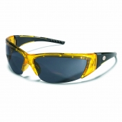 Crews ForceFlex 2 Safety Glasses - Translucent Yellow Frame - Gray Lens