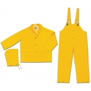 River City FR2003 Limited Flammability Classic 3 Piece Rain Suit - .35mm PVC/Polyester - Yellow