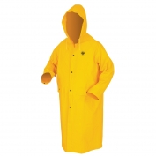 River City FR200C Limited Flammability Classic Rain Coat - .35mm PVC/Polyester - Yellow