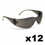 Full Source FS112-DZ Spinyback Safety Glasses - Gray Lens (12 Pairs)
