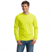 Gildan G2400 Ultra Cotton Long Sleeve T-Shirt - Safety Green