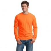 Gildan G2400 Ultra Cotton Long Sleeve T-Shirt - S. Orange