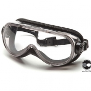 Pyramex Top Shelf Chemical Goggles - Gray Foam Lined Body - Clear Anti-Fog Lens