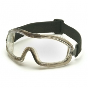 Pyramex Indirect Vent Chemical Goggles - Gray Body - Clear Anti-Fog Lens