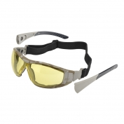Elvex Go-Specs II Safety Glasses/Goggles - Camo Frame - Amber Anti-Fog Lens