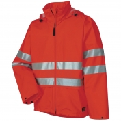 Helly Hansen 70260 Narvik Type R Class 3 PU Rain Jacket - Hi-Vis Orange