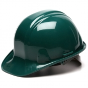 Pyramex HP14035 Hard Hat - 4-Point Snap Lock Suspension - Green