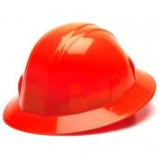 Pyramex HP24141 Full Brim Hard Hat - 4-Point Ratchet Suspension - Hi-Viz Orange