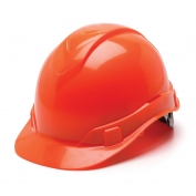 Pyramex HP44141 Ridgeline Hard Hat - 4-Point Ratchet Suspension - Hi-Viz Orange