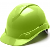 Pyramex HP46131 Ridgeline Hard Hat - 6-Point Ratchet Suspension - Hi-Viz Green