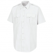 Horace Small HS1212 New Dimension Poplin Short Sleeve Shirt - White