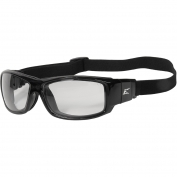Edge HZ111-SP Caraz Safety Glasses/Goggles - Black Frame & Strap - Clear Vapor Shield Lens