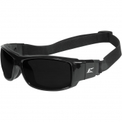 Edge HZ116-SP Caraz Safety Glasses/Goggles - Black Frame & Strap - Smoke Vapor Shield Lens