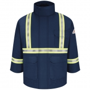 Bulwark FR JLPCNV Deluxe Parka With CSA Compliant Reflective Trim - EXCEL FR ComforTouch - Navy