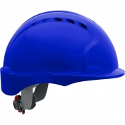 JSP Evolution 6151SV Deluxe Short Brim Vented Hard Hat - Wheel Ratchet Suspension - Blue