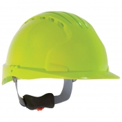 JSP Evolution 6151V Deluxe Vented Hard Hat - Wheel Ratchet Suspension - Hi-Viz Lime