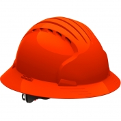 JSP Evolution 6161V Deluxe Full Brim Vented Hard Hat - Wheel Ratchet Suspension - Hi-Viz Orange