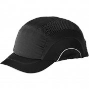 JSP ABS150 HardCap A1+ Baseball Bump Cap - Short Brim - Black