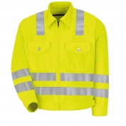 Red Kap JY32AB Hi-Visibility Ike Jacket - Type R Class 3