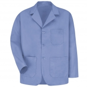 Red Kap KP10 Men's Lapel Counter Coat - Light Blue