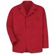 Red Kap KP10 Men's Lapel Counter Coat - Red