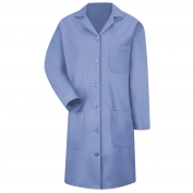 Red Kap KP13 Women's Button Front Lab Coat -Light Blue