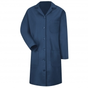 Red Kap KP13 Women's Button Front Lab Coat - Navy