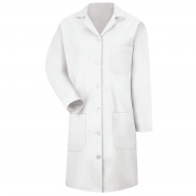 Red Kap KP13 Women's Button Front Lab Coat - White