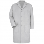 Red Kap KP14 Men's Five Button Front Lab Coat - Grey