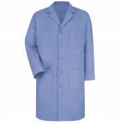 Red Kap KP14 Men's Five Button Front Lab Coat - Light Blue