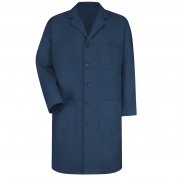 Red Kap KP14 Mens Five Button Front Lab Coat - Navy