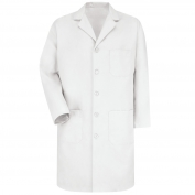 Red Kap KP14 Men's Five Button Front Lab Coat - White