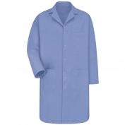 Red Kap KP18 Men's Five Snap Front Lab Coat - Light Blue