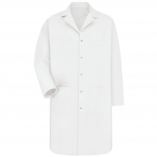 Red Kap KP18 Men's Five Snap Front Lab Coat - White