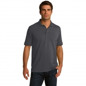Port & Company KP55T Tall 5.5-Ounce Jersey Knit Polo - Charcoal