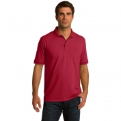 Port & Company KP55T Tall 5.5-Ounce Jersey Knit Polo - Red