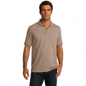 Port & Company KP55T Tall 5.5-Ounce Jersey Knit Polo - Sand