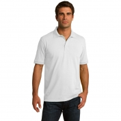 Port & Company KP55 5.5-Ounce Jersey Knit Polo - White