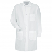 Red Kap KP70WH Unisex Specialized Cuffed Lab Coat - Exterior Pockets