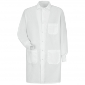 Red Kap KP72WH Unisex Specialized Cuffed Lab Coat - Interior & Exterior Pockets