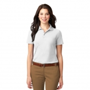 Port Authority L510 Ladies Stain-Resistant Polo - White