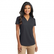Port Authority L572 Ladies Dry Zone Grid Polo - Battleship Grey