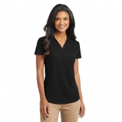 Port Authority L572 Ladies Dry Zone Grid Polo - Black