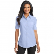 Port Authority L659 Ladies Short Sleeve SuperPro Oxford Shirt