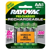 Rayovac Everyday Use Rechargeable AA Batteries- 8 Pk