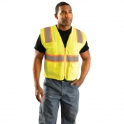 OccuNomix LUX-ATRNSM Classic Mesh Two-Tone Surveyor Safety Vest - Yellow/Lime